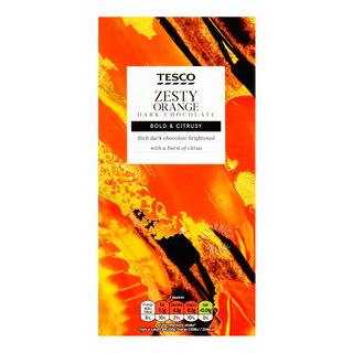 Tesco Chocolate Bar - Zesty Orange