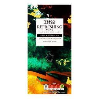 Tesco Plain Chocolate Bar - Mint