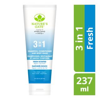 Nature's Gate 3 in 1 Shampoo, Conditioner & Body Wash - Fresh