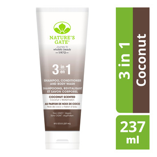 Nature's Gate 3 in 1 Shampoo, Conditioner & Body Wash - Coconut