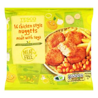 Tesco Frozen Meat Free Nuggets - Chicken Style