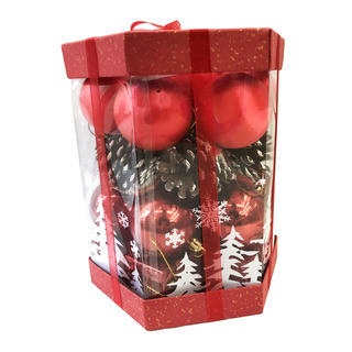 Christmas Hanging Ornament Gift Set - Red
