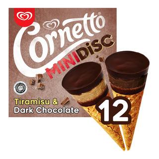 Cornetto Mini Ice Cream Cone - Tiramisu & Dark Chocolate