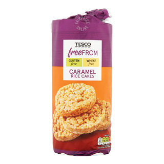 Tesco Free From Rice Cakes - Caramel