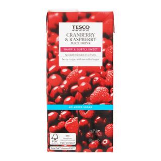 Tesco Juice Drink - Cranberry & Raspberry (No Sugar Added)