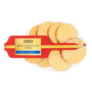 Tesco Chocolate Coins - Milk