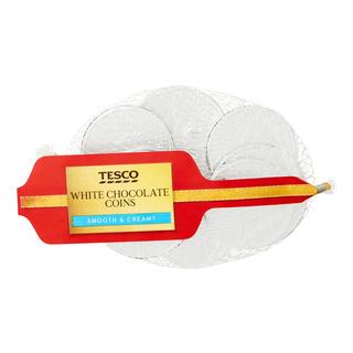 Tesco Chocolate Coins - White
