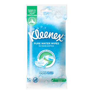 Kleenex Hand & Face Moist Wipes - Pure Water