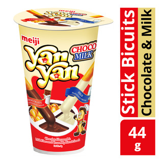 Meiji Yan Yan Stick Biscuits - Chocolate & Milk
