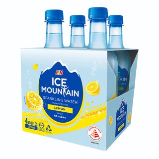 F&N Ice Mountain Sparkling Bottle Water - Lemon