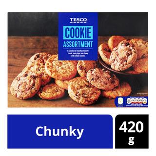 Tesco Assorted Cookies - Chunky