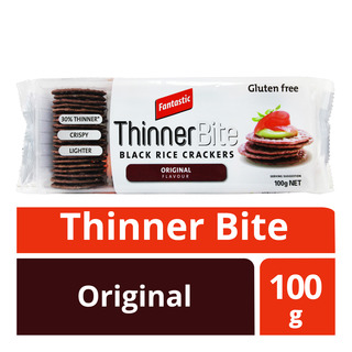 Fantastic Thinner Bite Black Rice Crackers - Original