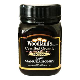 Woodland's Organic Raw Manuka Honey - MG 300+ 500g