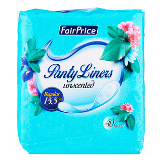 FairPrice Unscented Panty Liners - Regular (15.5cm)
