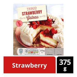 Tesco Frozen Gateau - Strawberry