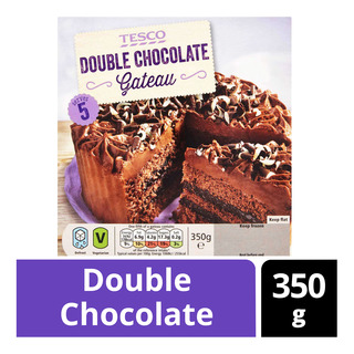Tesco Frozen Gateau - Double Chocolate