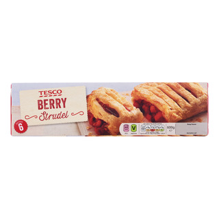Tesco Frozen Strudel - Berry