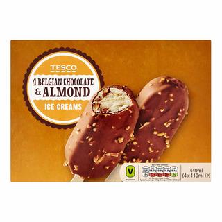 Tesco Ice Cream Sticks - Belgian Chocolate & Almond