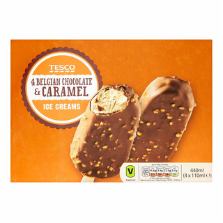 Tesco Ice Cream Sticks - Belgian Chocolate & Caramel