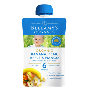 Bellamy's Organic Ready to Eat Baby Food - Banana Pear & Mango