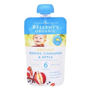 Bellamy's Organic Ready to Eat Baby Food - BerriesCinnamon&Apple