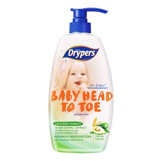 Drypers Baby Head To Toe Wash - Avocado & Oat Kernel