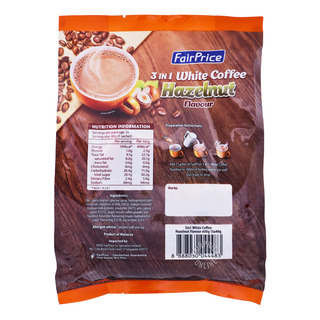 FairPrice 3 in 1  Instant White Coffee - Hazelnut