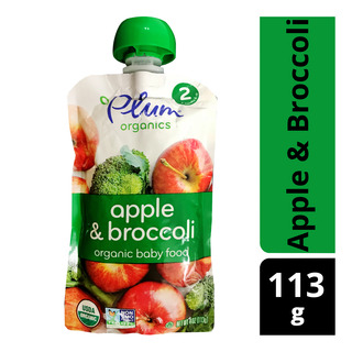 Plum Organics Purees - Apple & Broccoli
