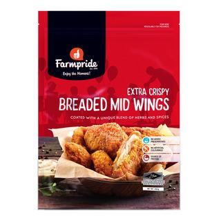 Farmpride Frozen Breaded Mid Wings