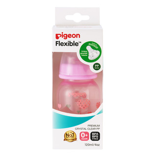 Pigeon Flexible Nursing Bottle - PP (Pink)