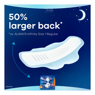 Whisper Always Infinity Wing Pads - Overnight (30cm)