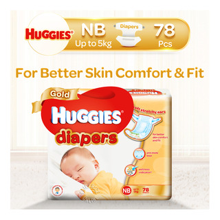 Huggies Gold Diapers - New Born (0 - 5kg)