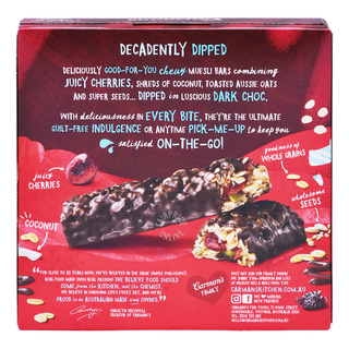 Carman's Muesli Bars - Dark Chocolate with Cherry & Coconut
