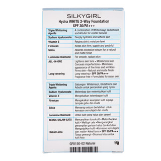 Silkygirl Hydra White 2-Way Foundation - 02 Natural (SPF 30)