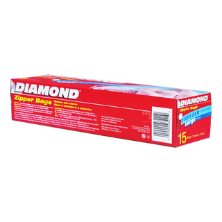 Diamond Freezer Zipper Bags - Large