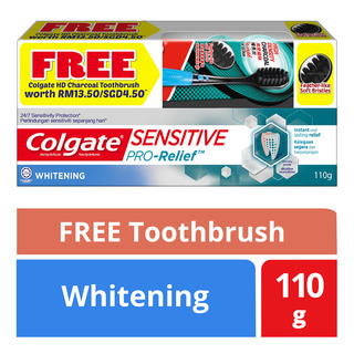 Colgate Sensitive Pro-Relief Toothpaste - Whitening + Toothbrush