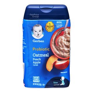 Gerber Baby Oatmeal Cereal - Peach & Apple