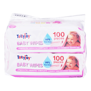 Tollyjoy Baby Wet Wipes - Fragrance Free
