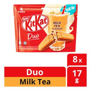 Nestle Kit Kat Duo Chocolate Bar - Milk Tea 8 x 17g| FairPrice
