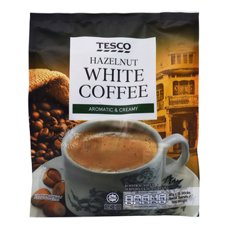 Tesco 3 in 1 Instant White Coffee - Hazelnut