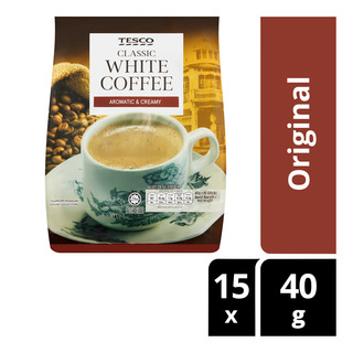 Tesco 3 in 1 Instant White Coffee - Original