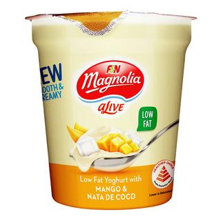 F&N aLive Low Fat Yoghurt - Mango & Nata de Coco