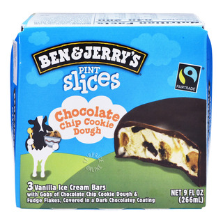 Ben & Jerry Pint Slices Ice Cream - Chocolate Chip Cookie Dough