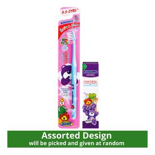 Kodomo Children Toothbrush + Toothpaste (0.5-2 years)