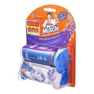 Mr Muscle Fresh Discs Starter Kit - Lavender