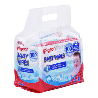 Pigeon Baby Wipes - 100% Pure Water