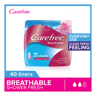 Carefree Breathable Panty Liners - Shower Fresh 40 per pack