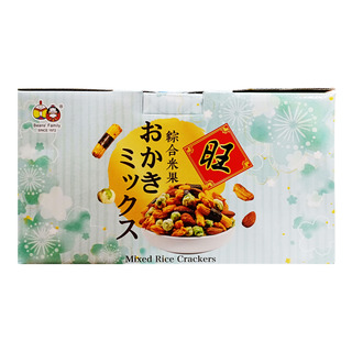 Beans' Family Mixed Rice Crackers - Blue