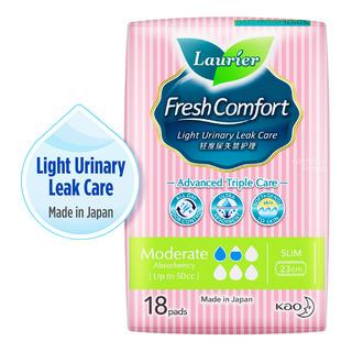Laurier Fresh Comfort Light Urinary Leak Pads -50cc(23cm)