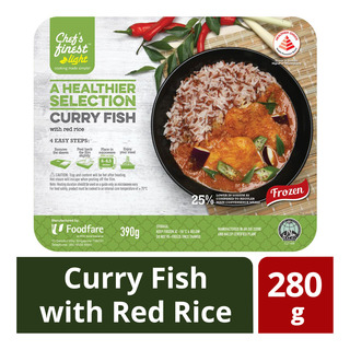 Chef's Finest Ready Meal - Curry Fish with Red Rice